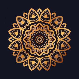 Luxe mandala met gouden arabesk design arabische islamitische stijl