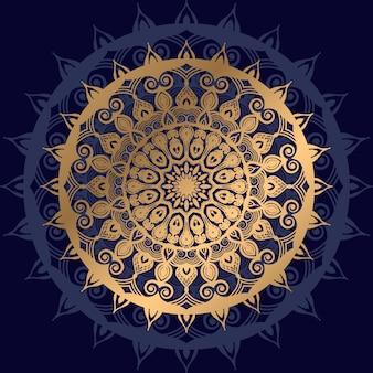 Luxe mandala met gouden arabesk patroon arabische islamitische oost-stijl