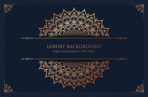 Luxe mandala met gouden arabesque arabische islamitische oost-stijl