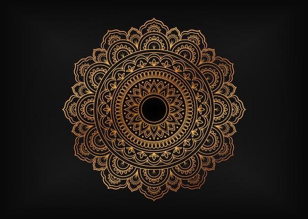 Luxe mandala met gouden arabesque ornamenten