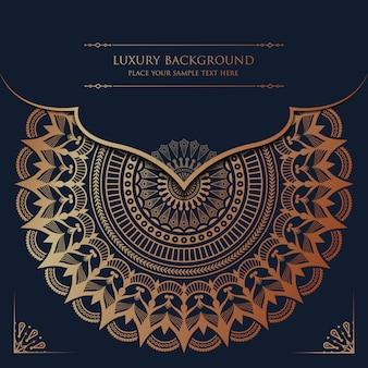 Luxe mandala met gouden arabesque patroon arabische islamitische oost-stijl
