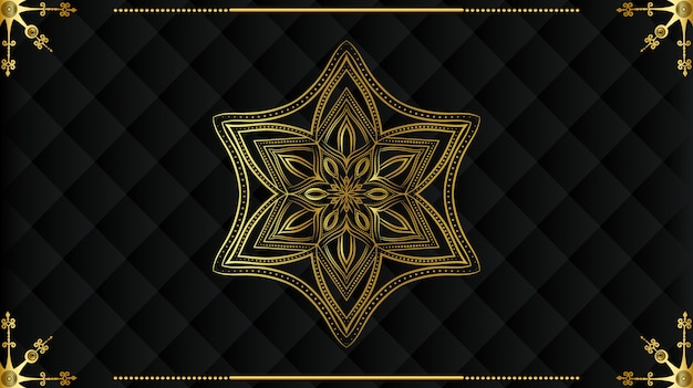 Luxe mandala met gouden arabesque patroon arabische koninklijke islamitische stijl