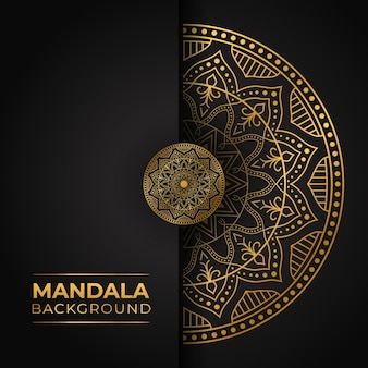 Luxe mandala met gouden verloop