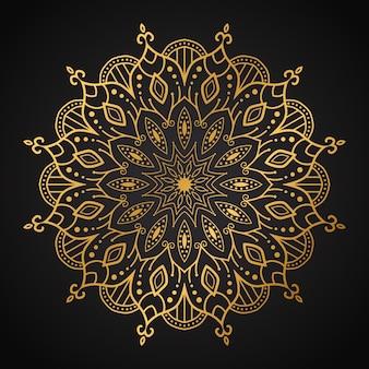 Luxe mandala naadloze patroon achtergrond
