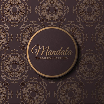 Luxe mandala naadloze patroonsjabloon