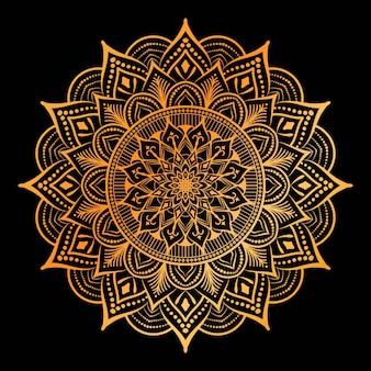 Luxe mandala ontwerpsjabloon
