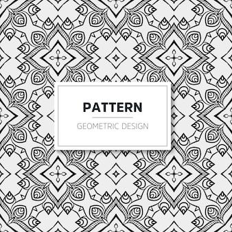 Luxe mandala patroon. geometrisch ontwerp