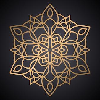 Luxe mandala patroon ontwerp vector