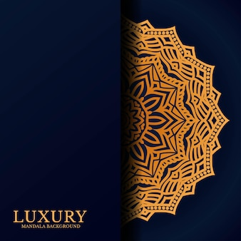 Luxe mandala ronde ornament patroon achtergrond