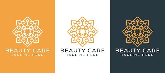 Luxe mandala sier logo ontwerpsjabloon