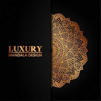 Luxe mandala vector hand getekend cirkelvormig geometrisch element voor henna, mehndi, tattoo, decoratie, textiel, patroon, uitnodigingsachtergrond