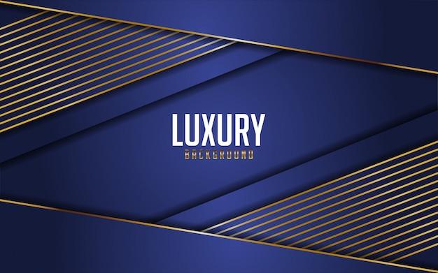 Luxe marineblauw gecombineerd met gouden lijnen