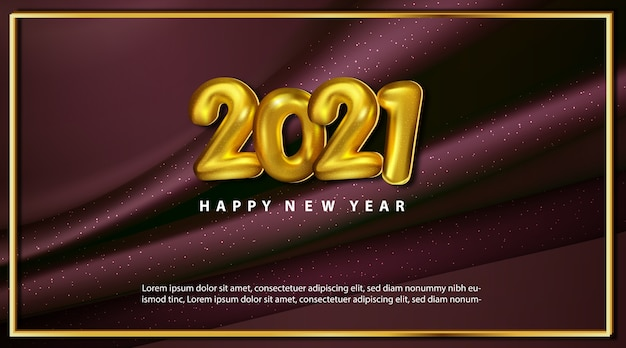 Luxe metallic gelukkig nieuwjaar 2021 wenskaart