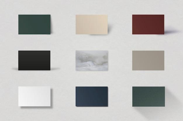 Luxe mockup-set voor visitekaartjes