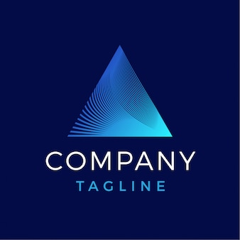 Luxe moderne abstracte driehoek prisma gradiënt logo