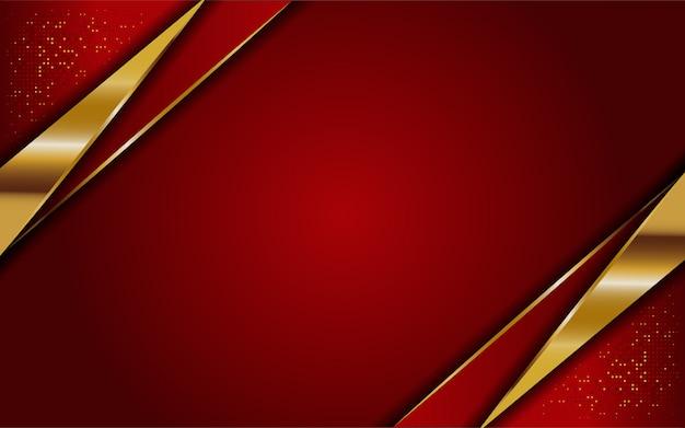 Luxe moderne abstracte rode en gouden lijnen achtergrond. elegante moderne achtergrond.
