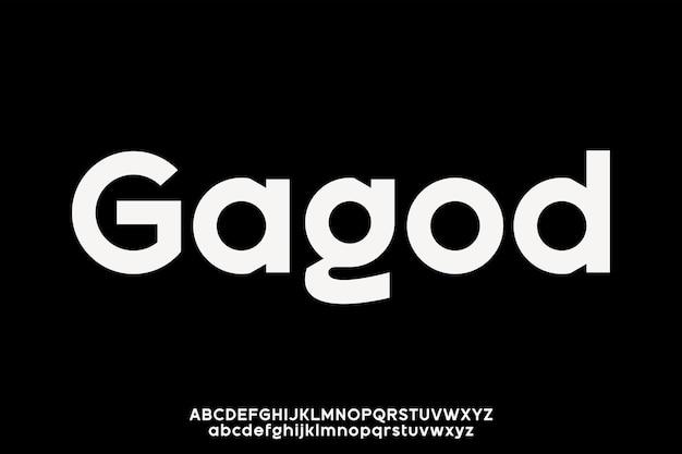 Luxe moderne schreefloze lettertype alfabetische vector set