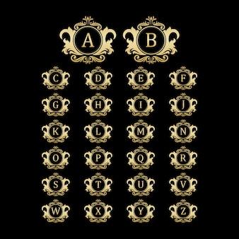 Luxe monogram logo met luxe sierstijl