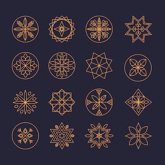 Luxe monogram logo ontwerpsjabloon set