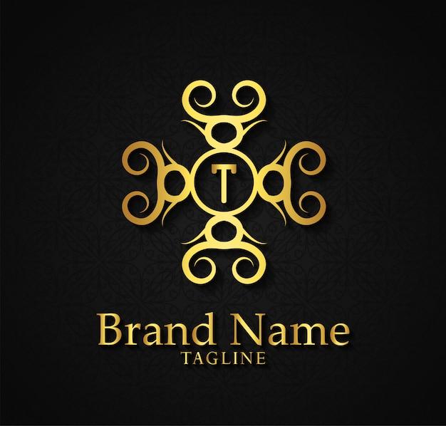 Luxe monogram logo sjabloon