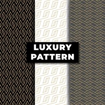 Luxe monogram naadloos patroon met gouden kleur