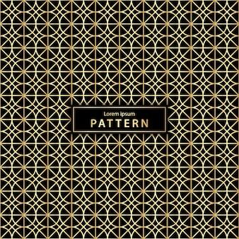 Luxe naadloze geometrische patroon