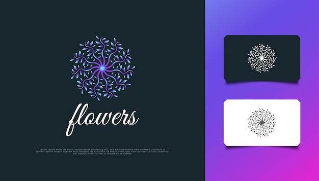 Luxe natuur bloemen blad ornament logo. kleurrijk mandala-logo