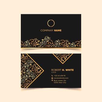 Luxe ontwerp voor visitekaartje
