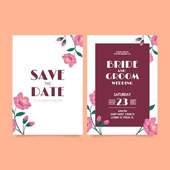 Luxe ontwerpsjabloon bruiloft uitnodiging