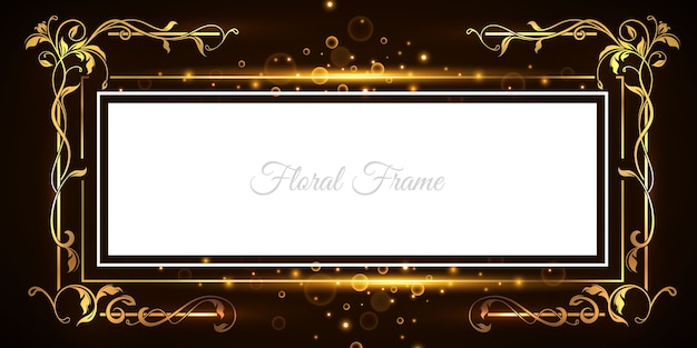Luxe ornament frame achtergrond