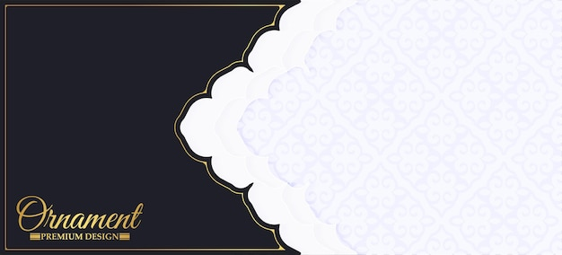 Luxe ornamentpatroon banner of kaart