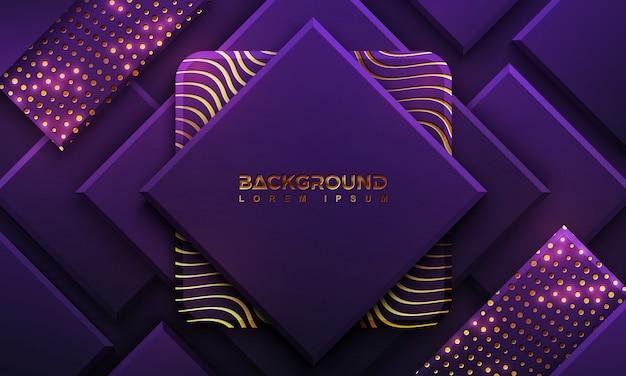 Luxe paarse achtergrond met een combinatie van stippen en lijnen.