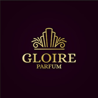 Luxe parfum logo concept