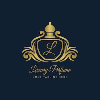 Luxe parfum logo sjabloon