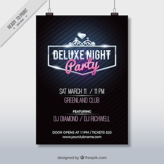 Luxe party poster template