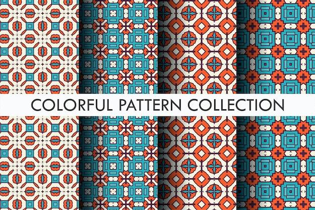 Luxe patroon set kleurrijke abstract
