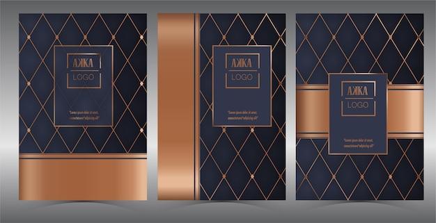 Luxe premium cover menu geometric