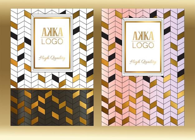 Luxe premium cover menu ontwerp geometrisch