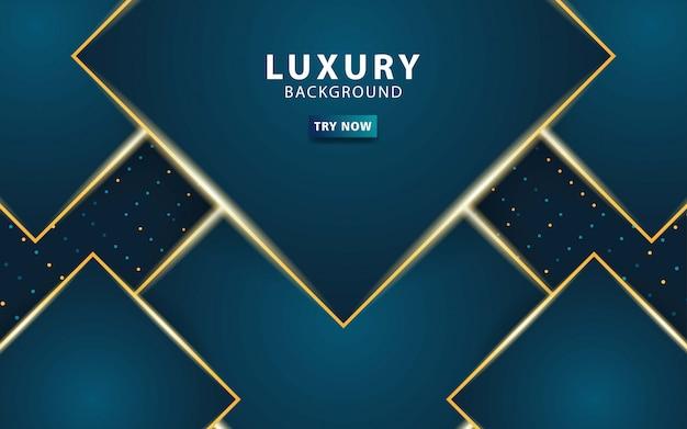 Luxe premium donkerblauwe abstracte overlay lagen achtergrond.