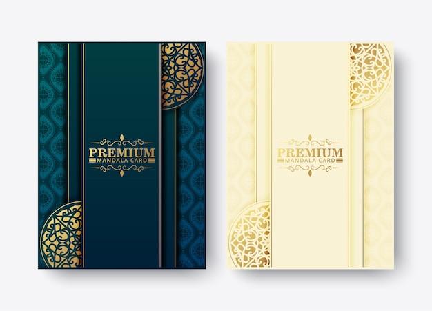 Luxe premium mandala-menuontwerp