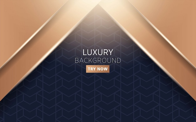 Luxe premium moderne donkere en gouden abstracte achtergrond