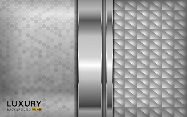 Luxe premium witte abstracte achtergrond met zilveren lijnen.