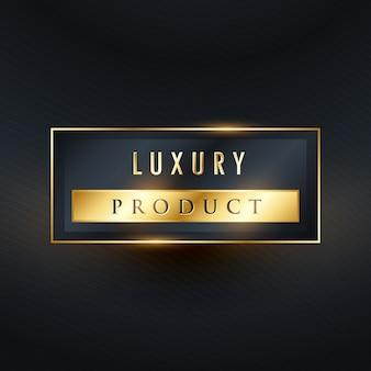 Luxe product premium label ontwerp in rechthoek vorm