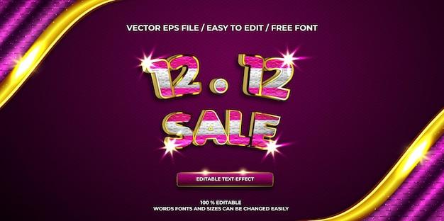 Luxe promotie verkoop goud 3d teksteffect