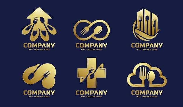 Luxe restaurant logo collecties voor bedrijven