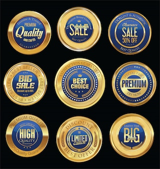 Luxe retro badges