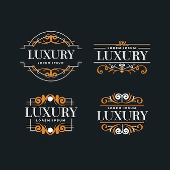 Luxe retro logo collectie sjabloon