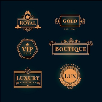 Luxe retro logo-collectie