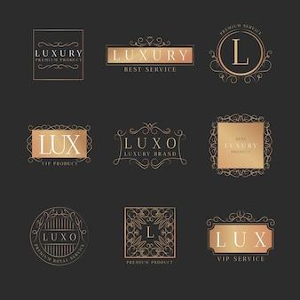 Luxe retro logo-collectie