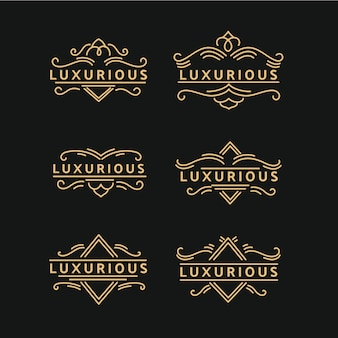 Luxe retro-logopakket